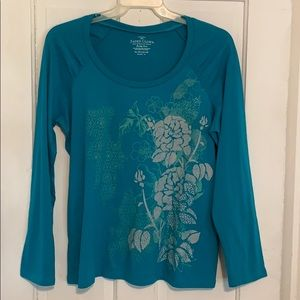Faded Glory Women's Size XL (16-18) Long-sleeved T